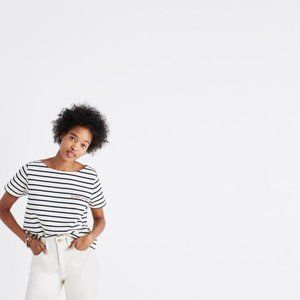 NWT Madewell Embroidered Staycation Boxy Tee XS